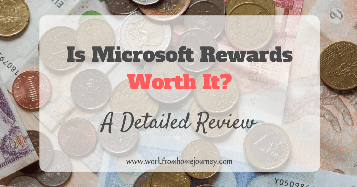 is Microsoft Rewards a scam? | - Work From Home Journey