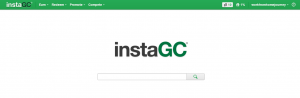 instaGC search engine