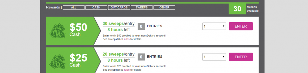 Inbox Dollars sweepstakes
