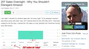 257 Sales Overnight - WA Success Story