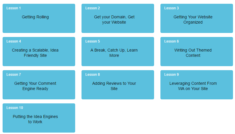 First 10 Lessons of the Affiliate Bootcamp
