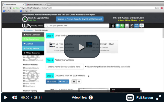 Wealthy Affiliate Video Walkthrough