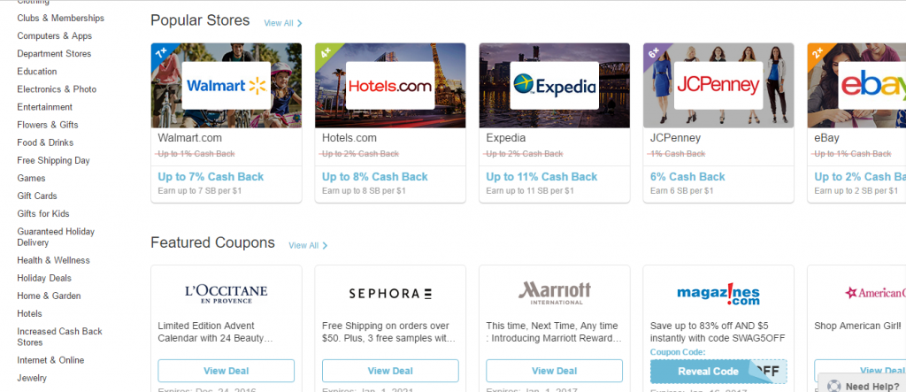 Shop & Get Cash Back with Swagbucks