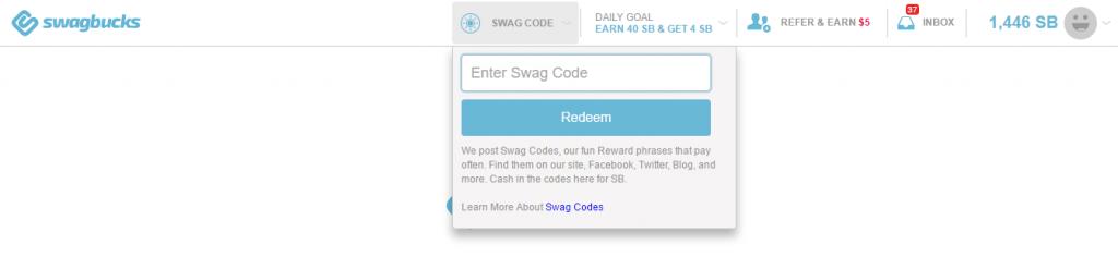 Redeem Swagcodes