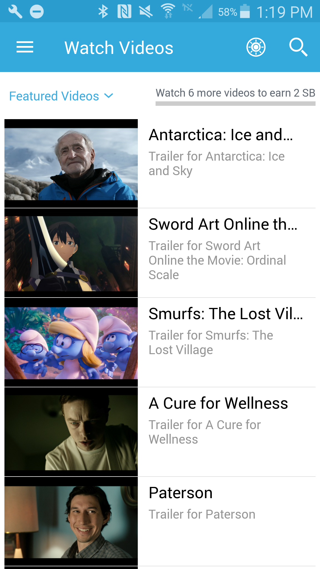 Watch videos in the Swagbucks mobile app