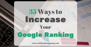 35 Ways to Increase Your Google Ranking