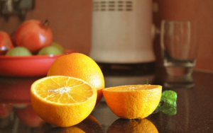 DesignersPics free photo - Various fruits on kitchen counter