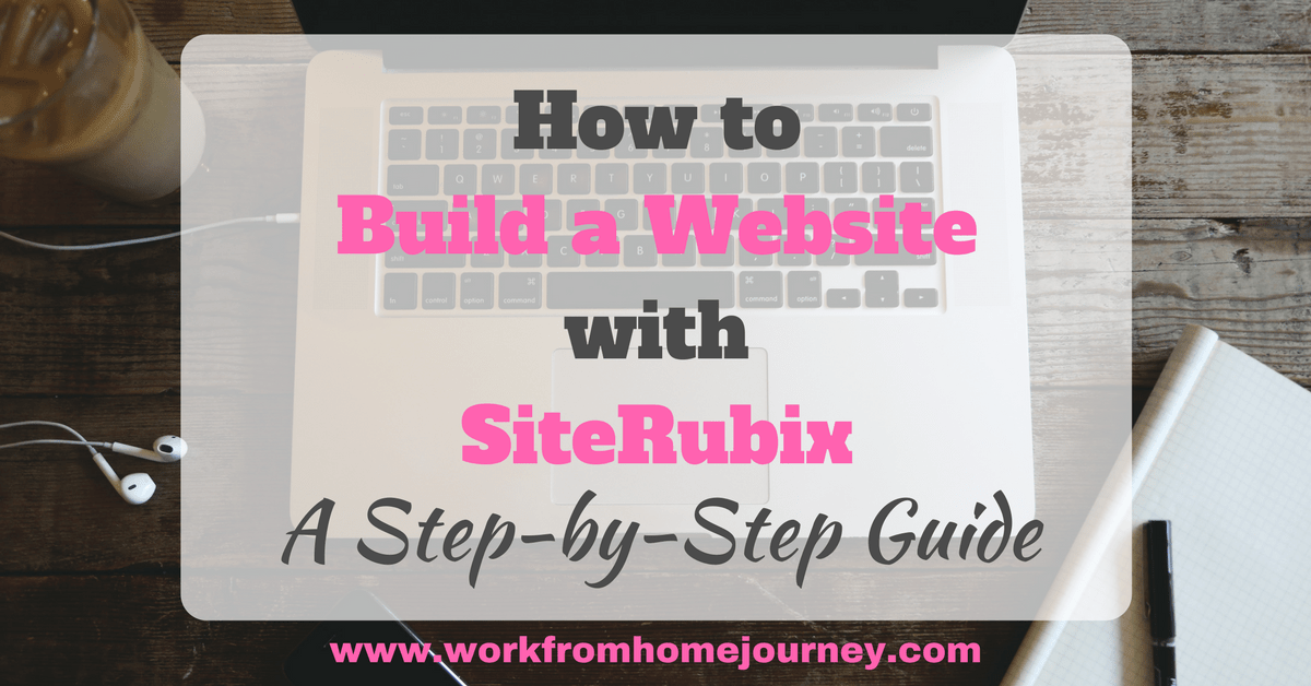 How to build a website with siterubix a step by step for How to build a house step by step instructions