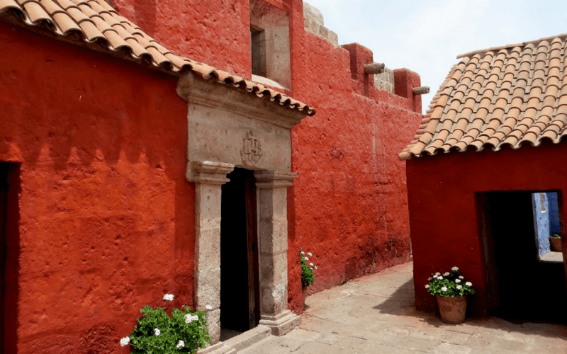 LifeofPix free photo - Red, adobe brick buildings