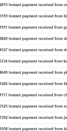 Instant payment to PayPal emails