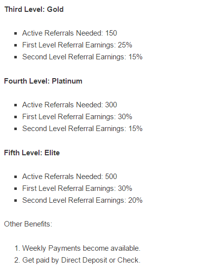 CashCrate referral levels 2