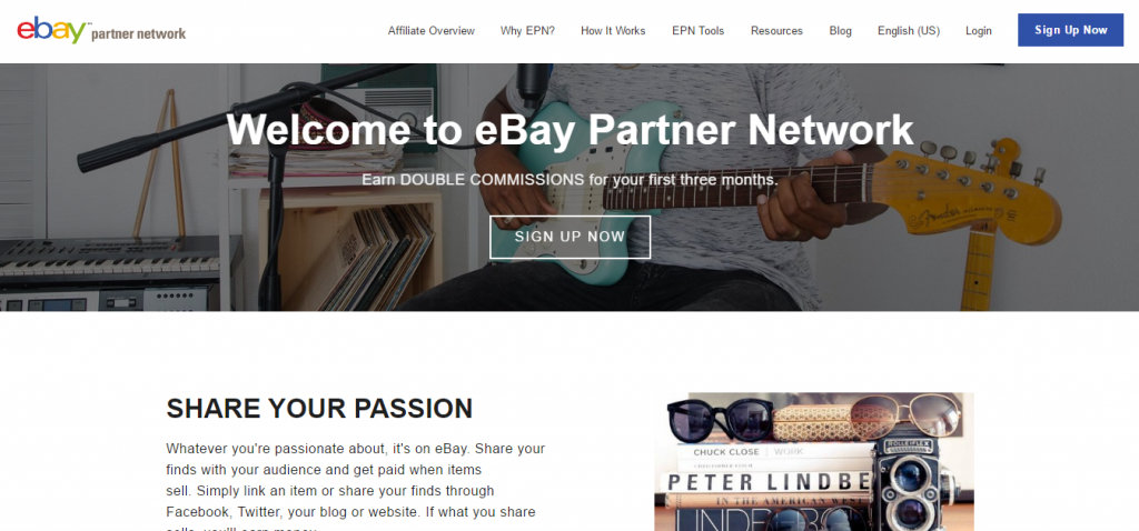 eBay Partner Network homepage Feb 2017