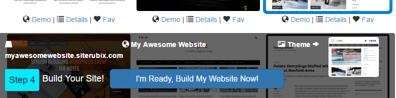 "Click ""I'm Ready, Build My Website Now!"""