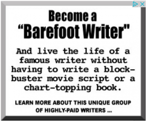 Barefoot Writer hyped-up ad
