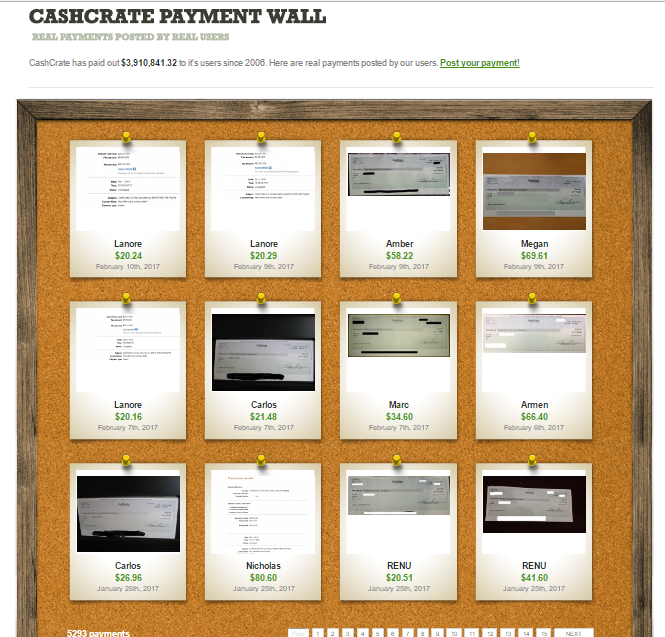 CashCrate Payment Wall