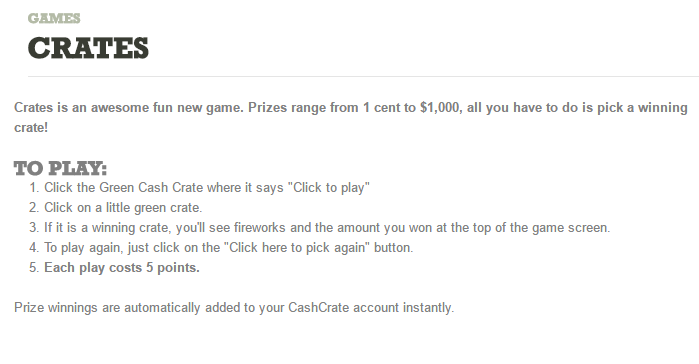 Crates game instructions