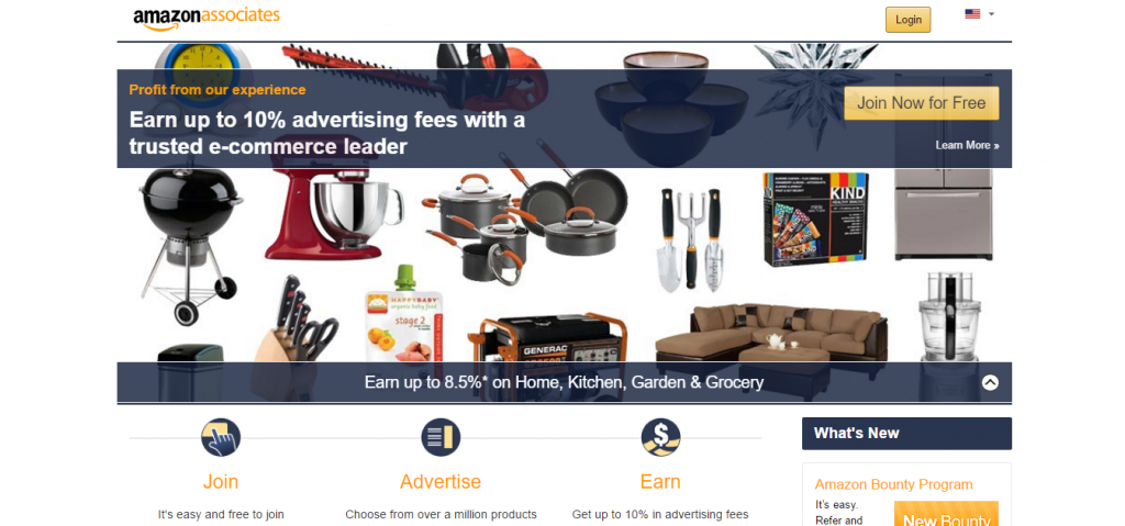 Amazon Associates homepage Feb 2017