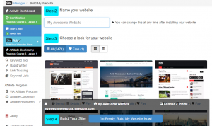 In the Site Builder under Step 3, you can choose a theme for your website