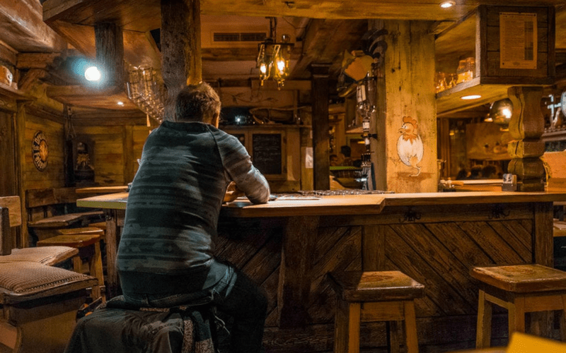 Splitshire free photo - Lonely man at bar