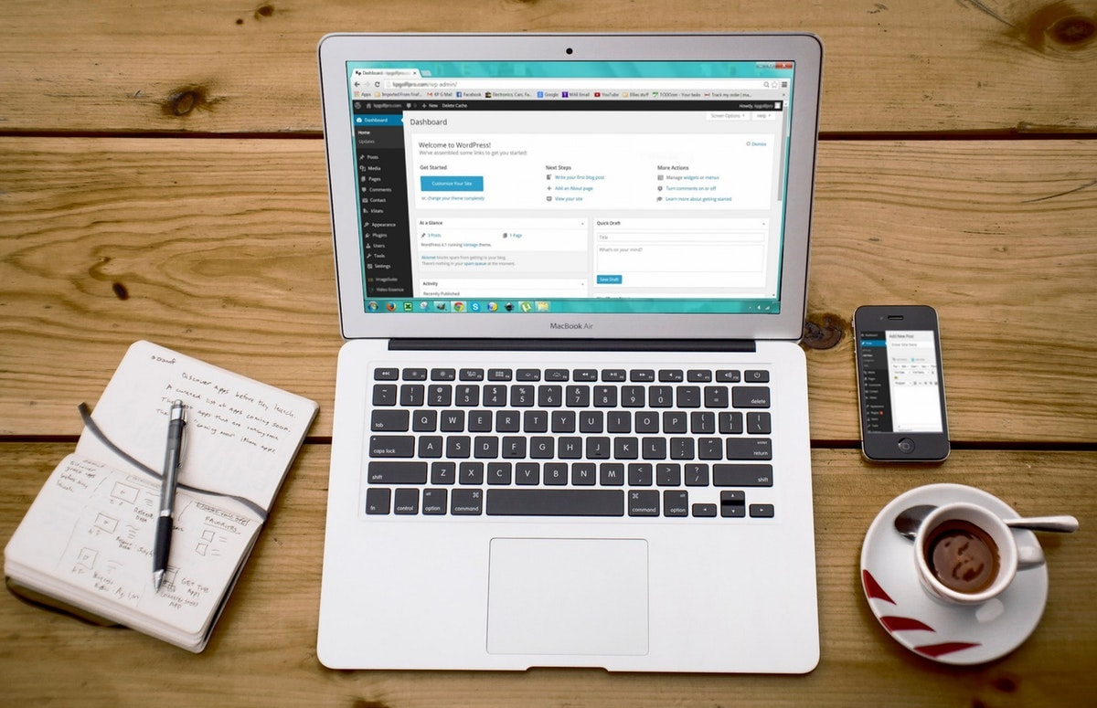 Working on a WordPress website