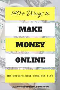 Ways to make money online Pinterest graphic