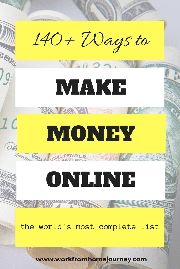 300 legitimate ways to make money online july 2018 work from ways to make money online pinterest graphic fandeluxe Image collections
