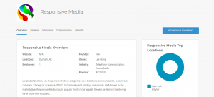 Responsive Media company overview on LiveCareer