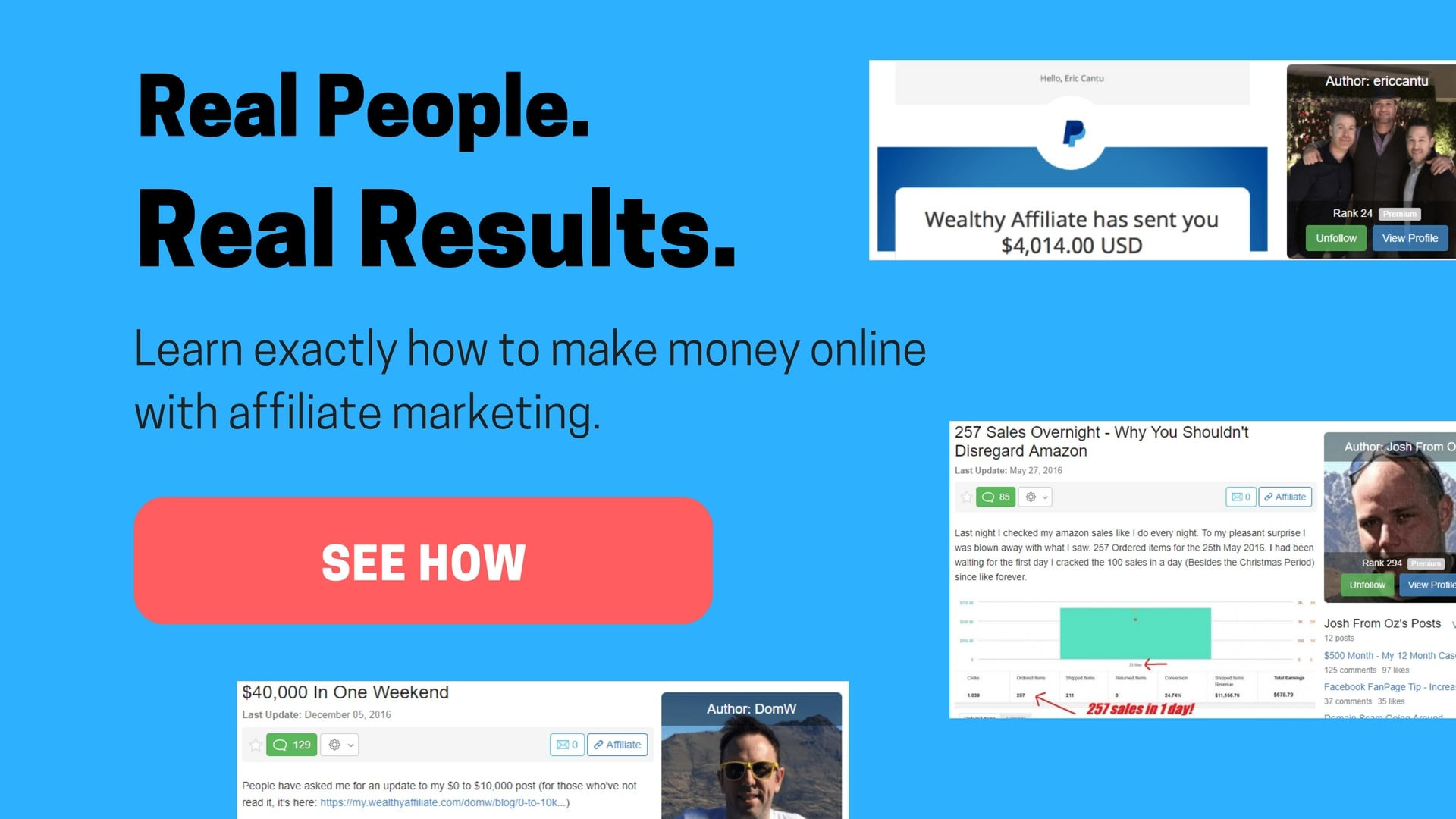 Real results - how to make money online with affiliate marketing