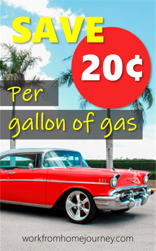 GetUpside save 20 cents per gallon of gas pin