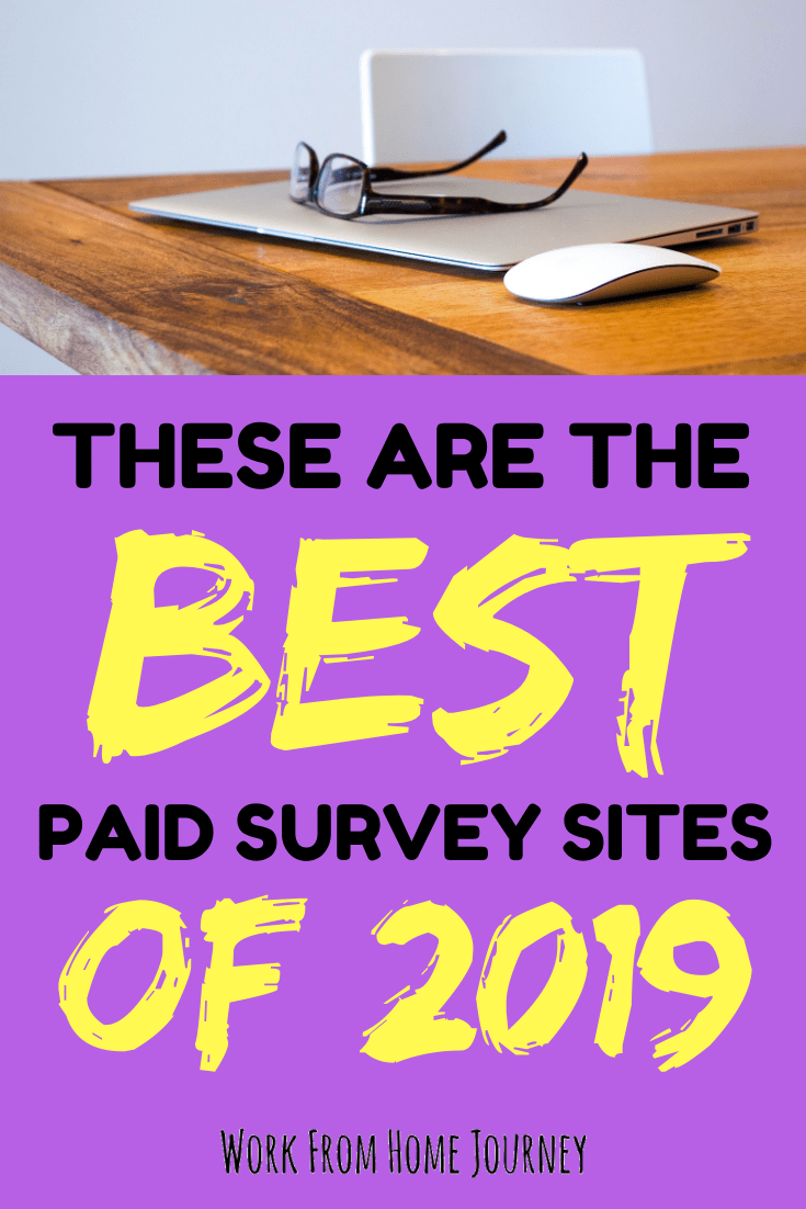Best survey sites 2019, computer and glasses on desk