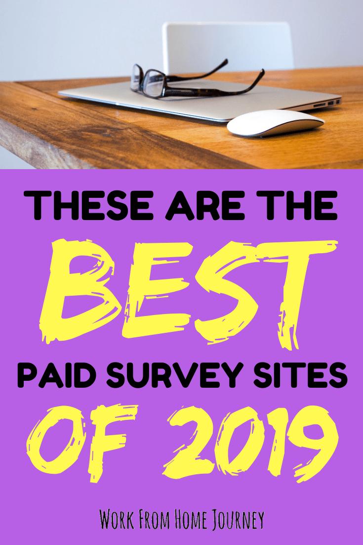 Best survey sites 2019, computer and glasses on desk