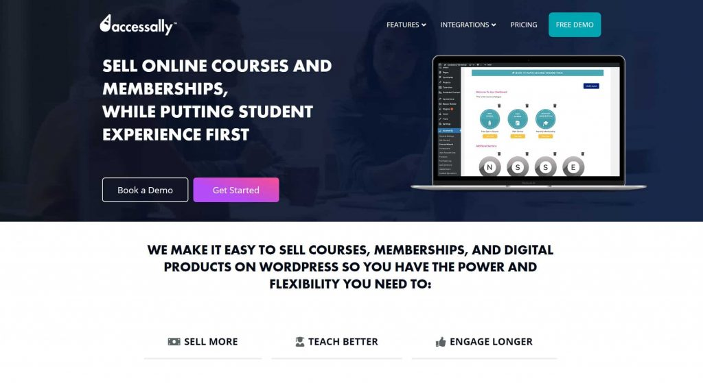 AccessAlly website homepage