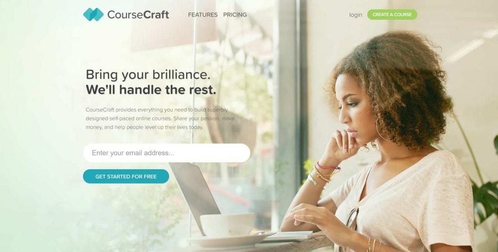 CourseCraft website homepage