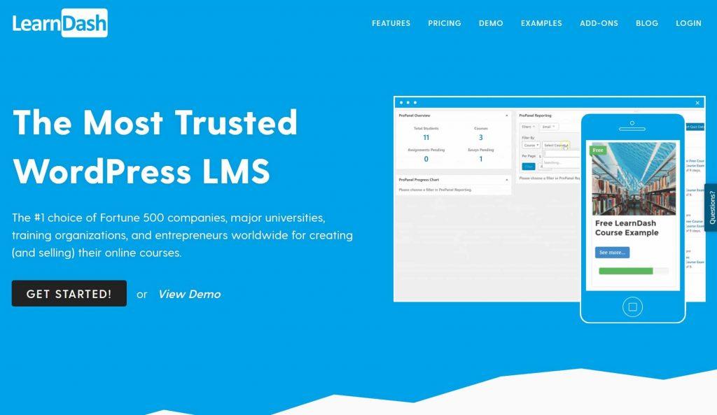 LearnDash website homepage