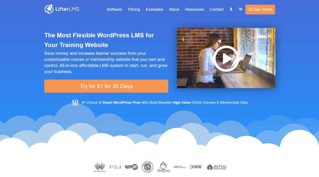 LifterLMS website homepage
