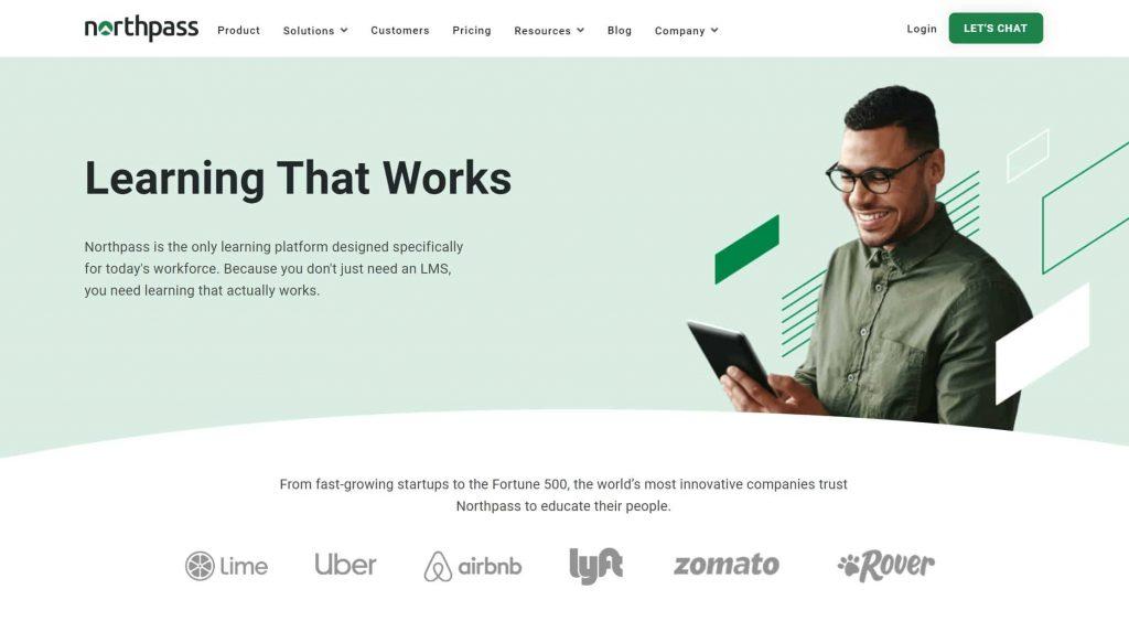 Northpass website homepage