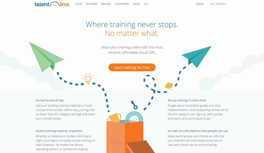 TalentLMS website homepage