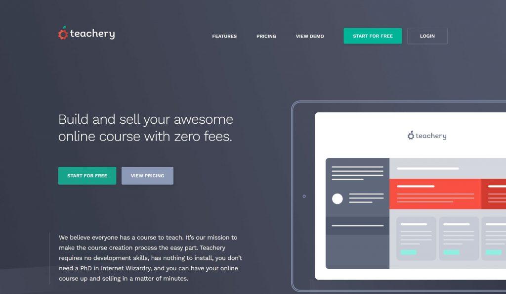 Teachery website homepage