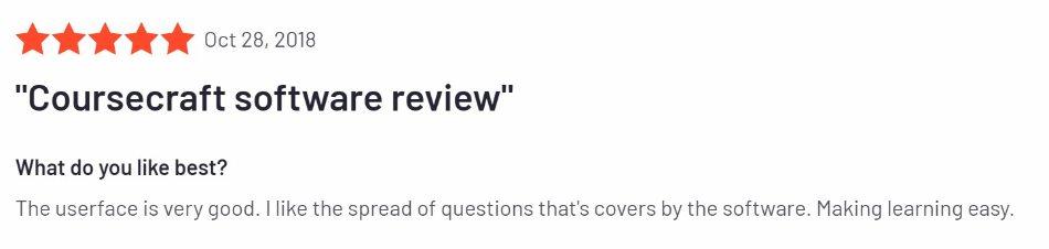 CourseCraft user review