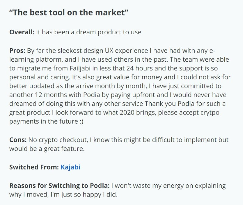 podia user review1