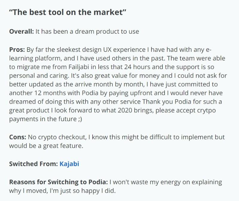 podia user review1