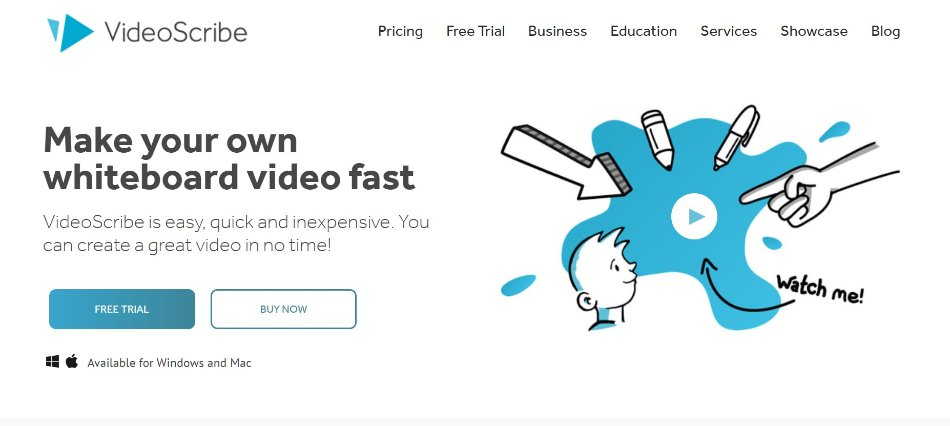 VideoScribe animation software homepage